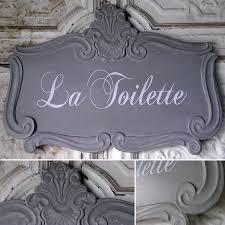 la toilette sign tin sign french