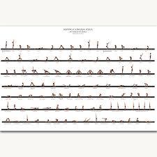 Ashtanga Poses Chart Fx1048 Ashtanga Vinyasa Yoga Pose Home Exercise Beginner