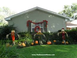 Outdoor Decorating For Fall Front Yard Decorating Ideas For Fall