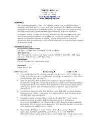 C language developer resume