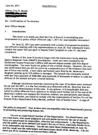 Troy Meade Fired By Everett Police Chief Jim Scharf