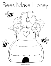Small Picture Bees Make Honey Coloring Page Twisty Noodle