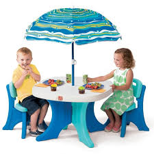 Amazoncom 4 Piece Kids Picnic Table Wooden Dining Set With Childrens Outdoor Furniture With Umbrella