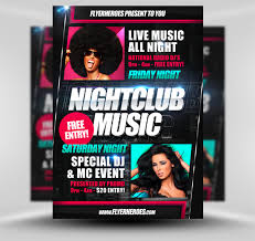 club flyer templates club flyers