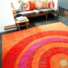 orange area rug contemporary rugs wonderful and blue ora