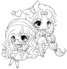 Chibi Coloring Pages To Print Anime Cute Girl Best Free Printable