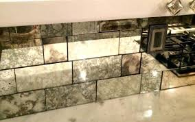 antique mirror glass tiles for distressed wall project