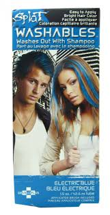 Splat Hair Color Electric Blue Washout