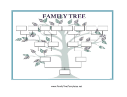 Family Tree Printable Template Blank Family Tree Template