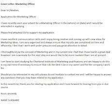 Best Marketing Cover Letter Marketing Officer Cover Letter Example