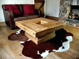 chunky rustic coffee table wooden
