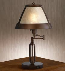 rustic table lamps stag horn dark shade lamp new