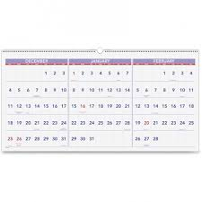 At A Glance 3 Month Calendar At A Glance Pm14 28 3 Month Horizontal Wall Calendar The Office Dealer
