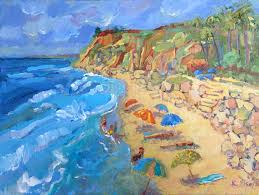 kathleen elsey santa barbara beach paintings