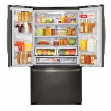 lg black stainless steel refrigerator. LG Black Stainless Steel Mega Capacity French Door Refrigerator Lg
