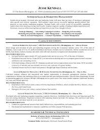 Sales And Marketing Resume Objective Cv For Sales And Marketing Manager Paper Writing Service