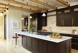 contemporary kitchens with dark cabinets. Contemporary Kitchens With Dark Cabinets Kitchen Wood Flooring Exposed Beams Shaker Style