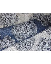 navy and white quilt. Interesting White Max Studio Coastal Twin Quilt Blue Navy Indigo White Sand Dollar Medallion Intended And P