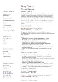 director of finance resume finance director cv sample taking a lead role in all operational