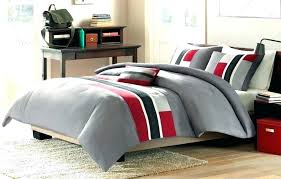 red striped comforter delectably