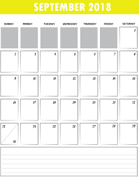 Blank Fillable Calendar Template