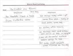 behavior based goal worksheet projects 6ac933ef