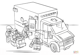 Coloriage Lego Ambulance L