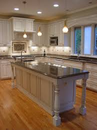 Kitchen Island Remodel Kitchen Cabinet Remodeling Black Kitchen Island Beige Granite
