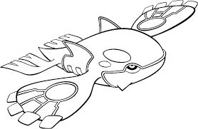 Coloriage Pokemon Groudon Kyogre Rayquaza Kyogre Coloring Page