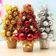 mini christmas tree decor plastic christmas tree baubles decoration ball ribbon home decor