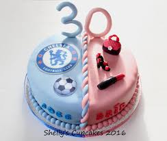 Shellys Cup Cakes On Twitter Twins 30th Birthday Cake Chelsea