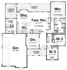 3 bedroom open floor house plans. Delighful House 3 Bedroom Open Floor House Plans Amazing Cozy Design And
