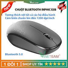 Chuột Không Dây Bluetooth Mini Inphic E5B 1200DPI chuột không tiếng ồn màu  đen