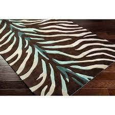brown zebra rug blue zebra rug hand tufted brown blue zebra animal print retro chic area brown zebra rug