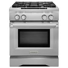 kitchenaid deep recessed 4 burner self cleaning convection single oven dual fuel range