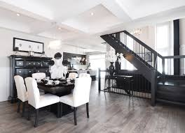 ... Amazing Black And White Laminate Flooring Grey Laminate Flooring Dining  Room Transitional With Black White ...