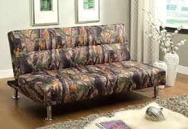 the camouflage compact size sofa bed is perfect for any living outdoorsy space with the ability to transform a classic clack mechanism into a