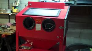 Sand Blasting Cabinets Harbor Frieght Blast Cabinet 12 22 11 Youtube
