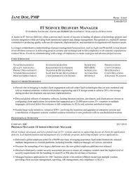 Service Delivery Manager Resume Adorable IT Service Delivery Manager Resume