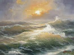 pinturas marinas atardecer buscar con google wave paintingspopular artoil painting techniquesart