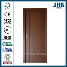 Modern Flush Door Designs Hot Item Composite Hollow Solid Wooden Interior Modern Wood Groove Flush Door Jhk Fc03