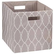 com better homes and gardens collapsible fabric storage cube taupe trellis home kitchen