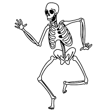 Trends for human skeleton coloring page drawn skeleton fun skeleton cut out template skellie buzzto