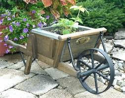 decorative garden wagon planter wheelbarrow green small wago
