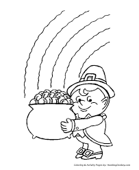 Pot Of Gold Color Sheets St Patricks Day Coloring Pages Leprechaun With A Pot Of