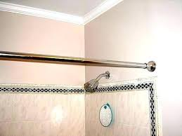 curved shower rod tension rods target curtain brilliant where to place brackets glacier