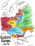 europe in the Early Middle Ages Outline Map
