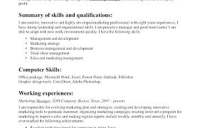 Skill Examples For Resume Resume Organizational Skills Examples
