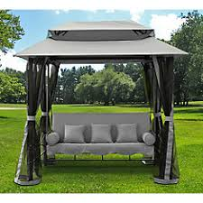 backyard swings for adults. Contemporary Adults Gazebo Swing In Grey Inside Backyard Swings For Adults C