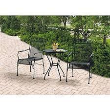 Green wrought iron patio furniture Black Cast Iron Garden Wrought Iron Piece Chairs Table Patio Furniture Bistro Set Black Seats Amazoncom Amazoncom Outdoor Wrought Iron Bistro Set Wfree Green Cushions